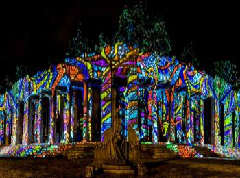 Fényfestés - Night Projection - Múzeumok éjszakája 2014 - Nemzeti sírkert