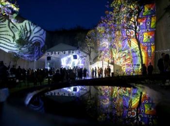 Fényfestés - Night Projection - Feszt!Eger 2014