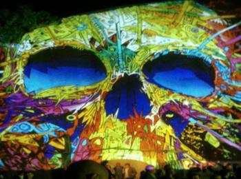 Fényfestés - Night Projection - Feszt!Eger 2014 - Koponya