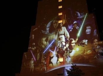 Fényfestés - Night Projection - Csillagok Háborúja promóció