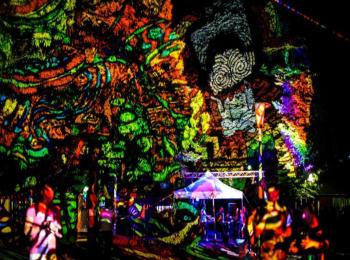Fényfestés - Night Projection - Normafa Open Air