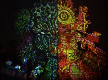 Fényfestés - Night Projection - Normafa Open Air partysorozat
