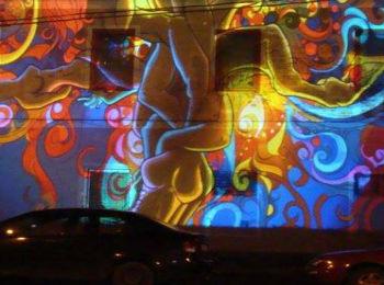 Fényfestés - Night Projection Wavy Corridor Szany partysorozat