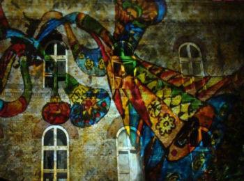 Fényfestés - Night Projection - Dürer kert fénydekoráció - harsonák