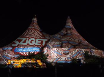 Fényfestés - Night Projection - Sziget Fesztivál 2014