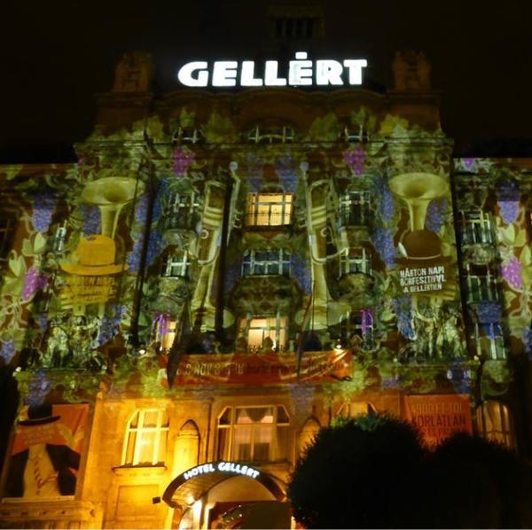 Night Projection fényfestés - Hotel Gellért Márton nap promóció