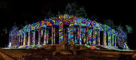 Night Projection fényfestés - Nemzeti sírkert